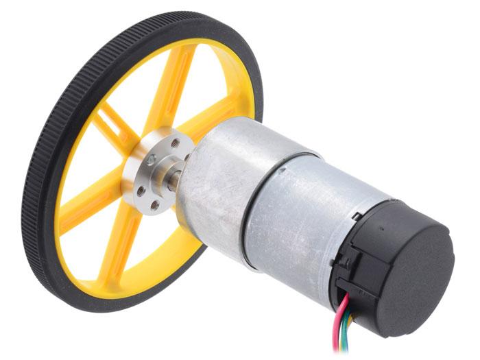Moteur 37 x 57 mm 12 Vcc - 200 rpm - Encodeur 64 CPR - 50:1 - 1444
