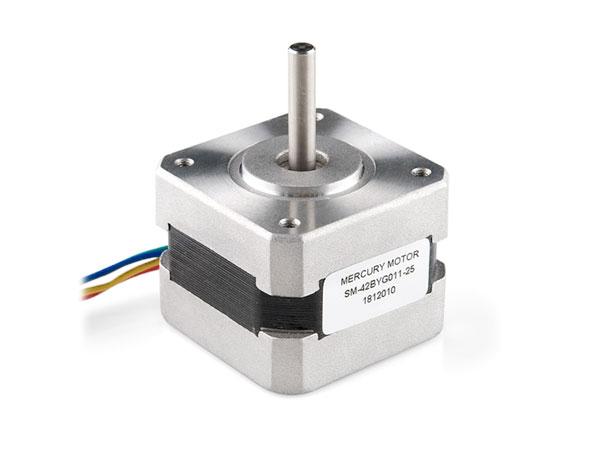 Motor de passo 12 Vdc 330 mA (ângulo 1.8° - 200 passos) - 2,3 Kg/cm - NEMA16 - SM-42BYG011-25