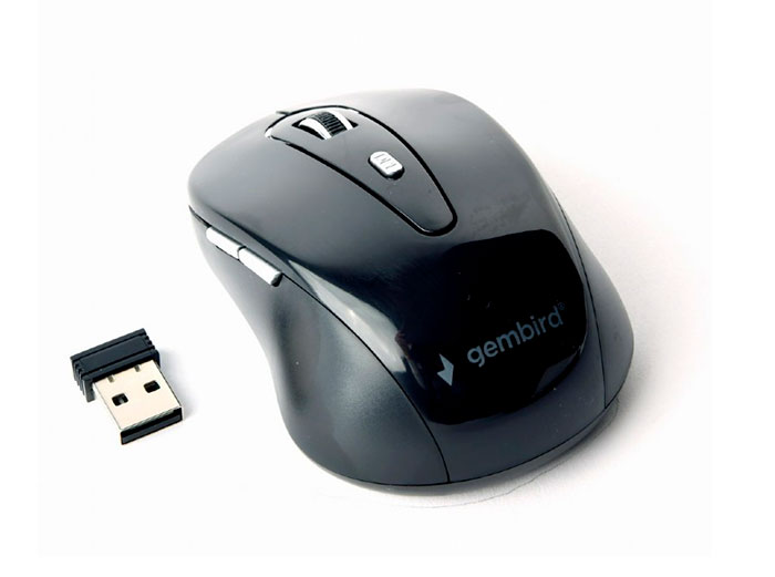 Gembird MUSW-6B-01 - 2.4 Ghz 6 Button Wireless Mouse