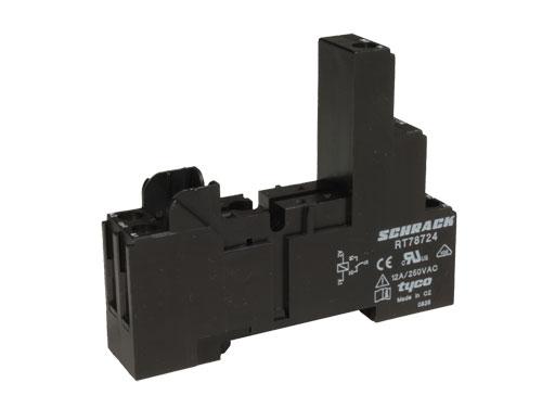 Schrack RT78724 - 1 Pole Relay Socket - 8-1415035-1