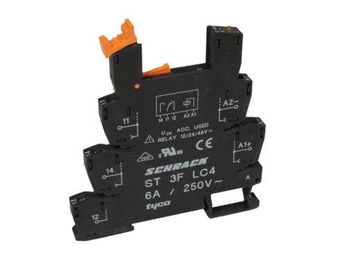 BASE RELE 1 CIRCUITO SCHRACK ST 3F LC4 - SCHRACK 2-1416100-0