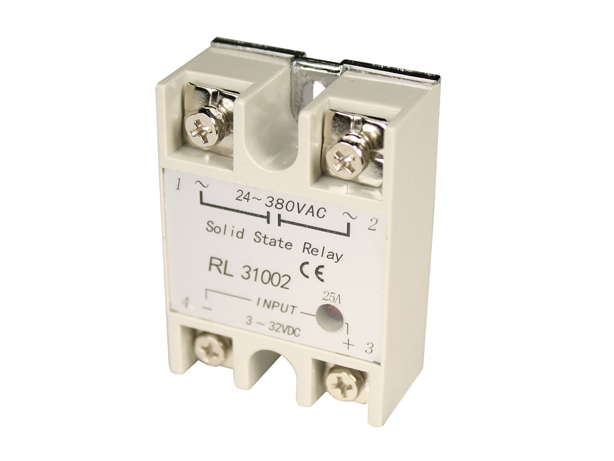 SSR-25DA - Single-Phase Solid State Relay 25 A - 24 .. 380 Vac - Activated by Direct Current