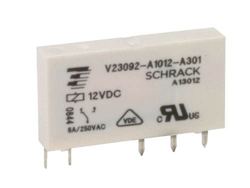Schrack V23092-A1012-A301 - Miniature Relay 12 Vdc SPDT 1 CO 6 A - TE 1393236-7