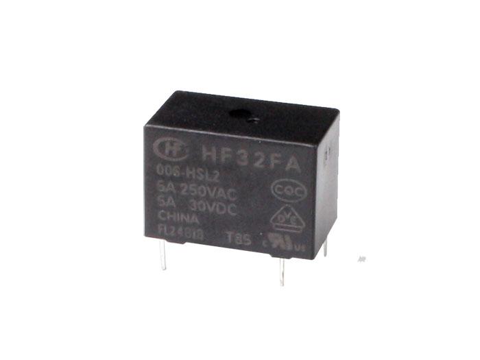 Hongfa HF32FA/006-HSL2 - Relais Miniature 6 Vcc SPDT - NO 5 A