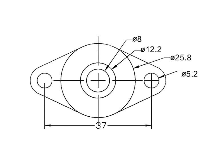 Soporte para plano Vertical o Lateral Varilla Ø8MM con Rodamiento