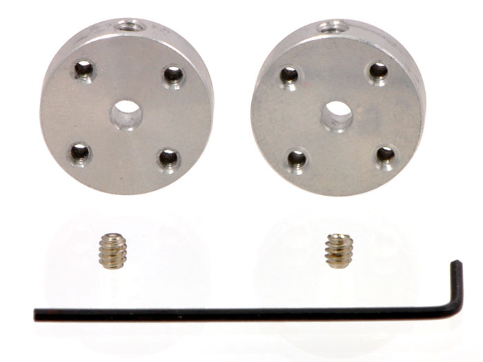 Pair of mounting hubs for shaft motor - 3 mm