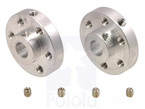 Pair of mounting hubs for shaft motor - 1/4