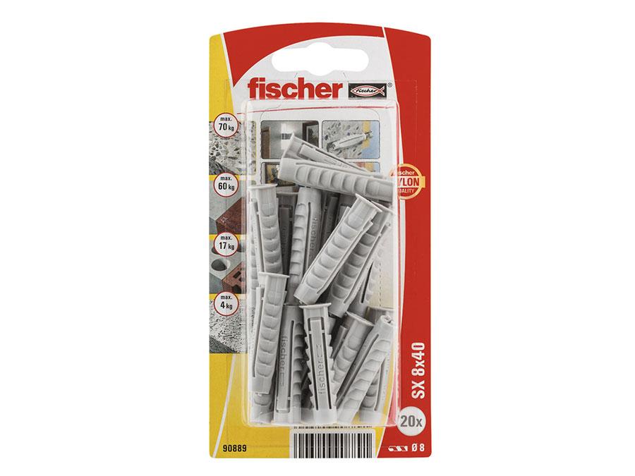 Fischer SX 8x40K con reborde - TACO PLADUR FISHER SX8X40K - 090889
