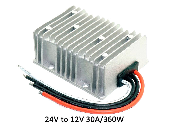 Conversor DC-DC, IN: 18 .. 35 V, OUT: 12 V - 30 A