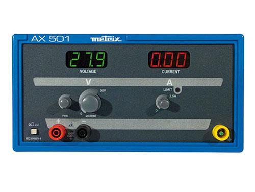 ALIMENTACIÓN PARA LABORATORIO 0-30V, 0-2,5A - METRIX AX501A