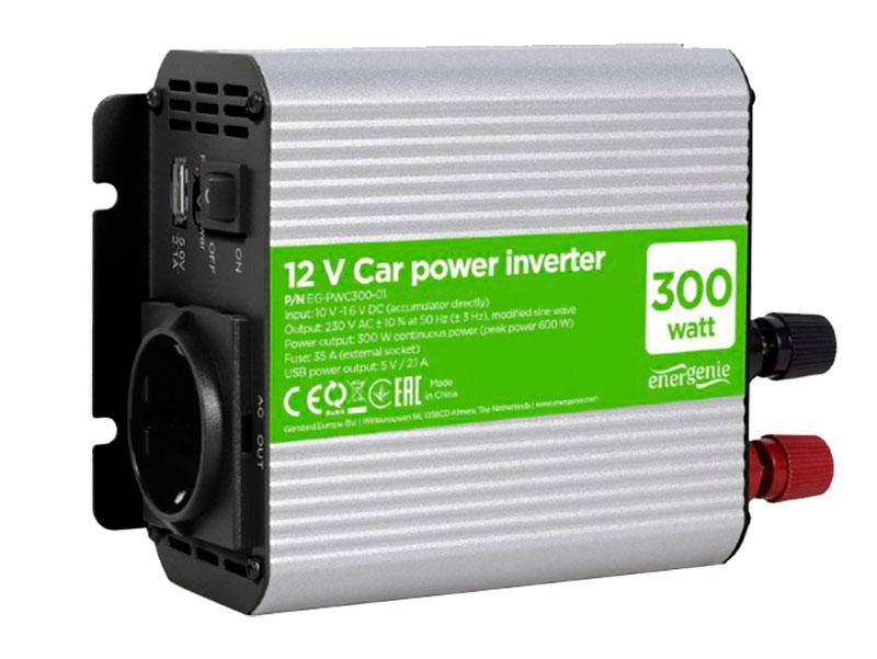 Inversor DC-AC onda senoidal modificada 300 W - 12 V - EG-PWC-032