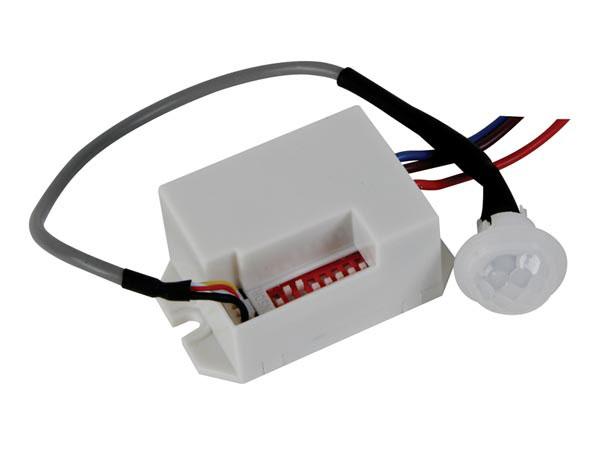 Detetor de presença iluminação embutido miniatura