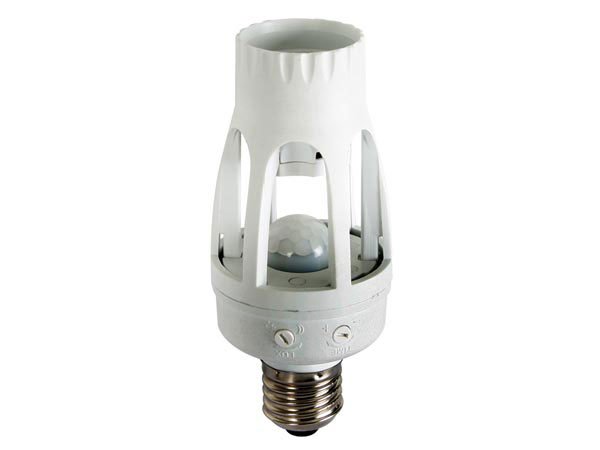 E27 base light with motion detector