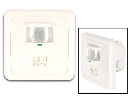 Embedded light with motion detector - white
