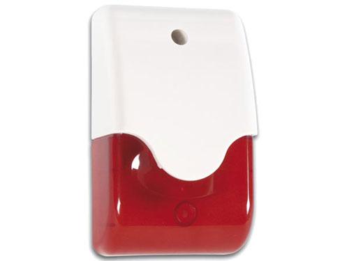 Sirene com estroboscópio vermelho