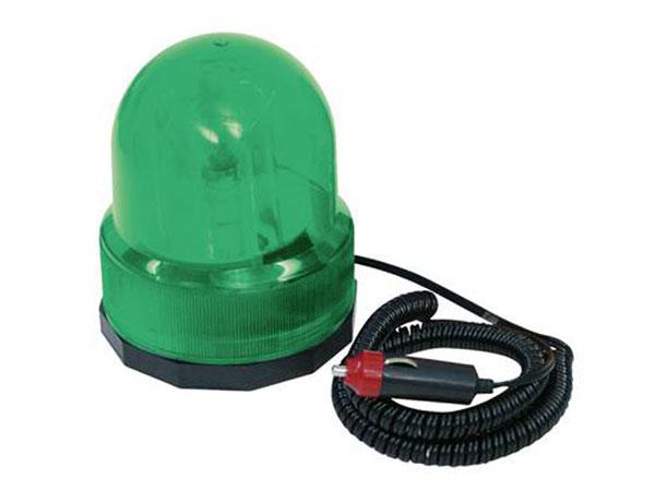 Lâmpada rotativa 12 VDC verde