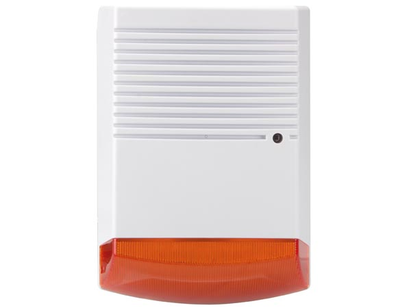 Fake outdoor siren with LED