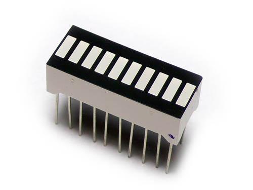 DISPLAY LED BARRA 10 SEGMENTOS MULTICOLOR - 304080004