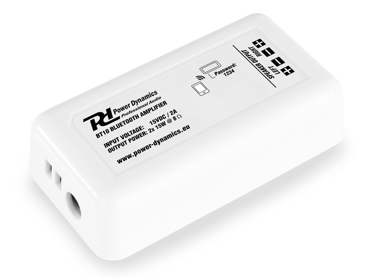 Power Dynamics BT10 - Amplified Bluetooth Audio Receiver with Speaker Output 2 x 15 W - 952.504