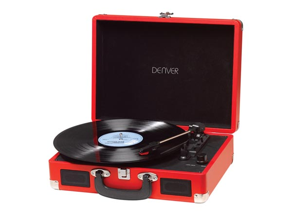 VPL-120 BROWN - Record player USB with PC software - red color - DV-30102