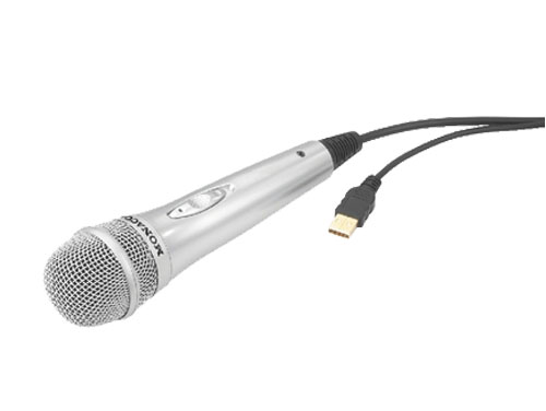 Handheld microphone with USB connection