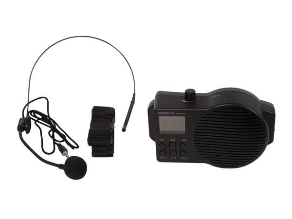 SISTEMA DE AUDIO PORTATIL CONFERENCIAS Con radio, puerto USB y ranura de tarjeta SD