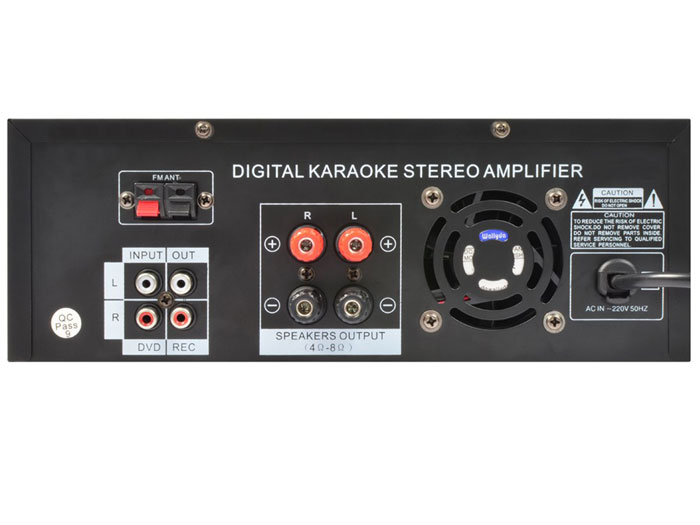 AMPLIFICADOR DE AUDIO KARAOKE - RADIO - MP3