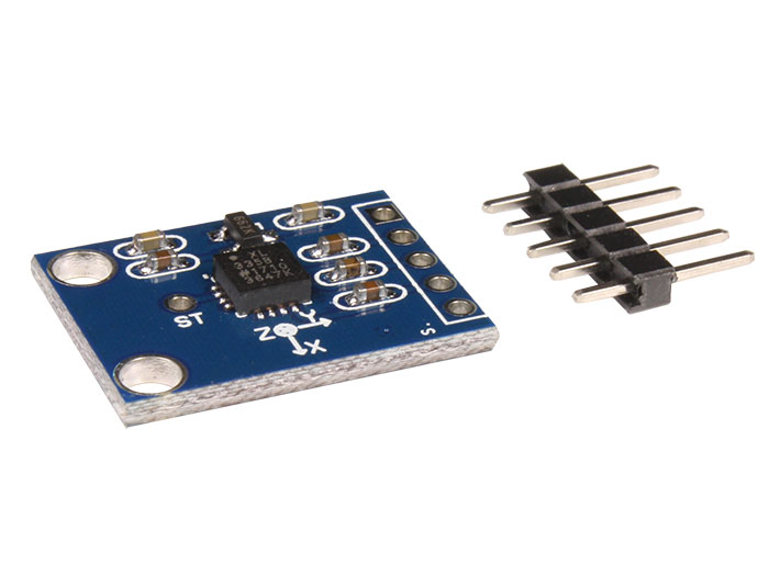 3 axis accelerometer - Board-Mounted - ± 3g with Pins - ADXL355