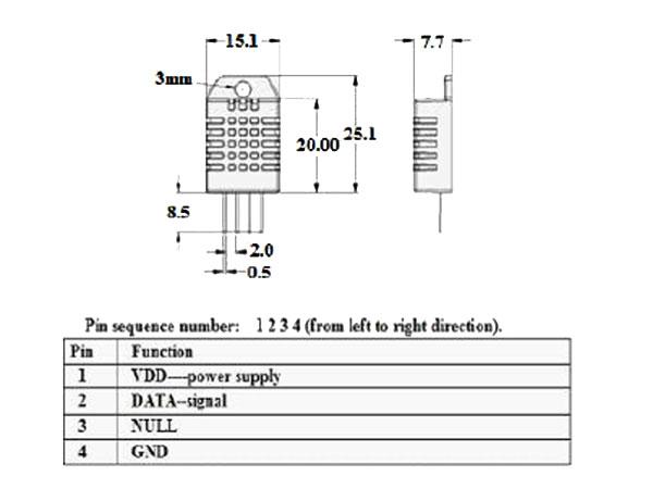 RHT03 - Sensor de Humidade e Temperatura - DHT22 AM2302