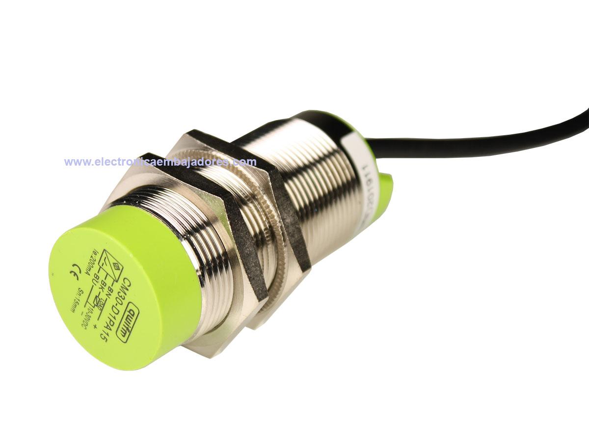 qwifm Non Flush - Capacitive Proximity Sensor - Ø 30 mm - PNP Output