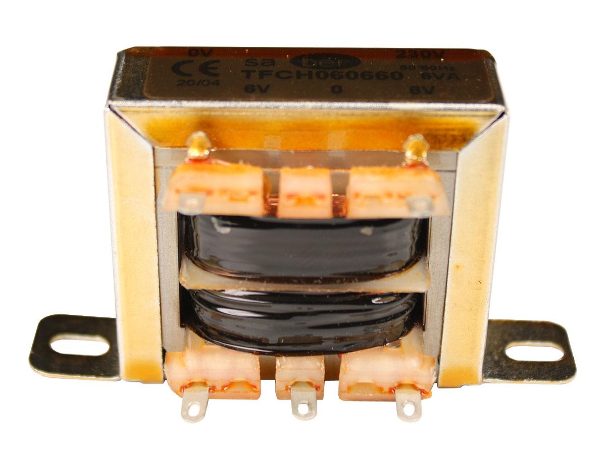 Transformador Chasis Abierto - 6 V + 6 V - 6,0 VA - 2 x 500 mA