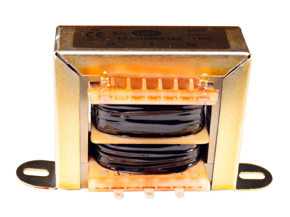 Transformador Chasis Abierto - 9 V + 9 V - 18 VA - 2 x 1,00 A