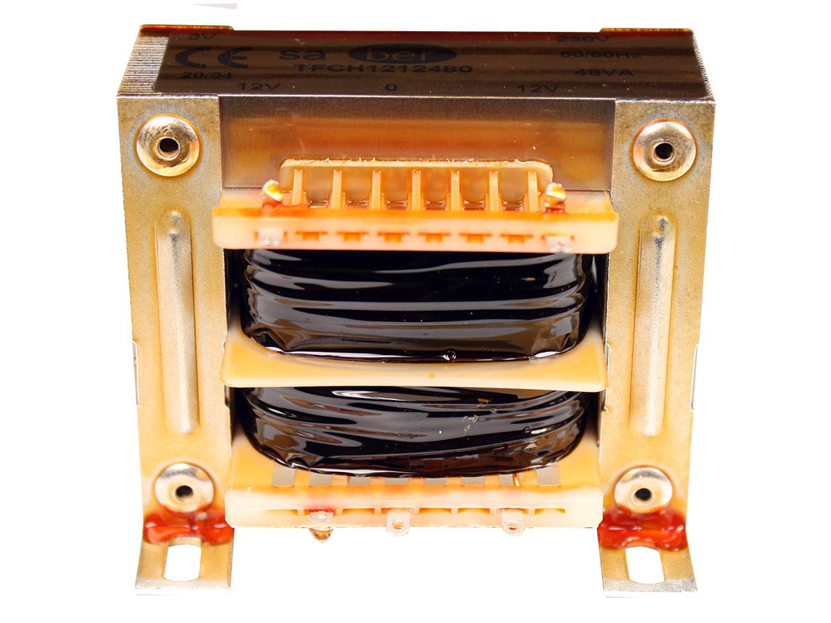 Transformador Chasis Abierto - 12 V + 12 V - 48 VA - 2 x 2,00 A