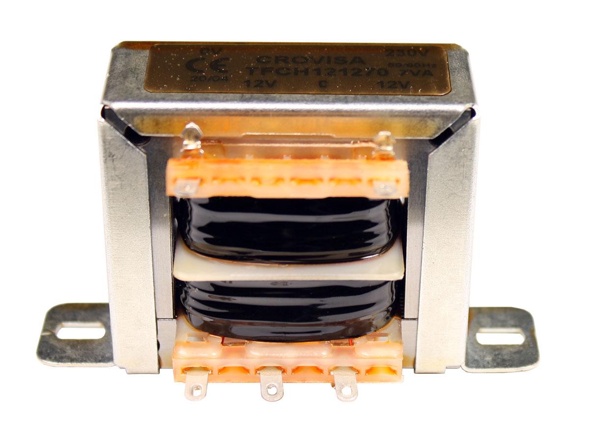 Transformador Chasis Abierto - 12 V + 12 V - 7,0 VA - 2 x 292 mA