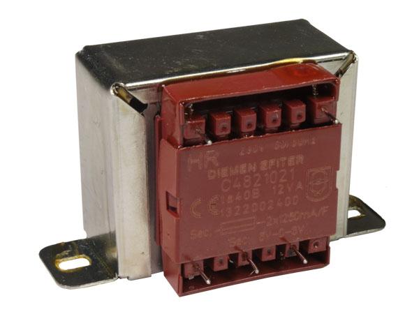 Transformador Chasis Abierto - 6 V + 6 V - 12 VA - 2 x 1,00 A