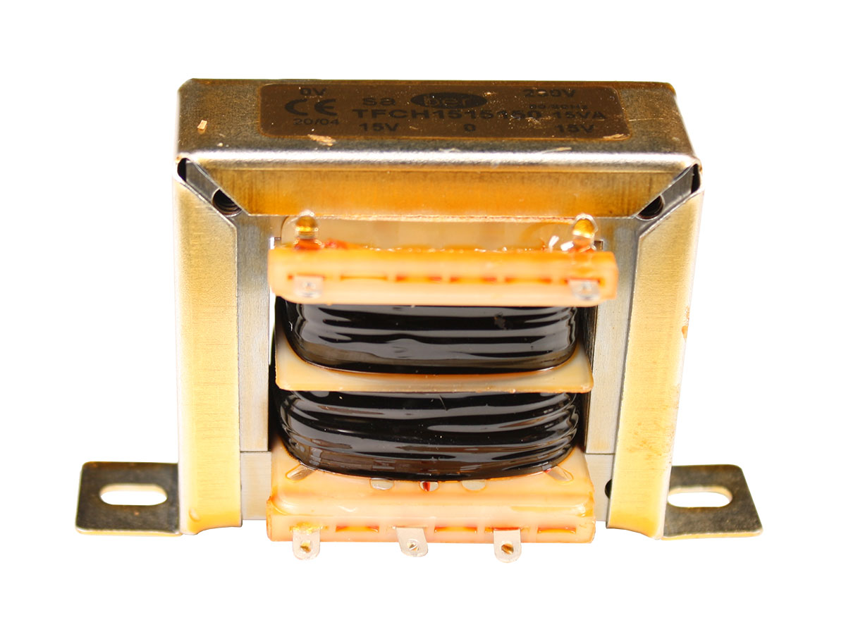 Transformador Chasis Abierto - 15 V + 15 V - 15 VA - 2 x 500 mA - HR-C5419029