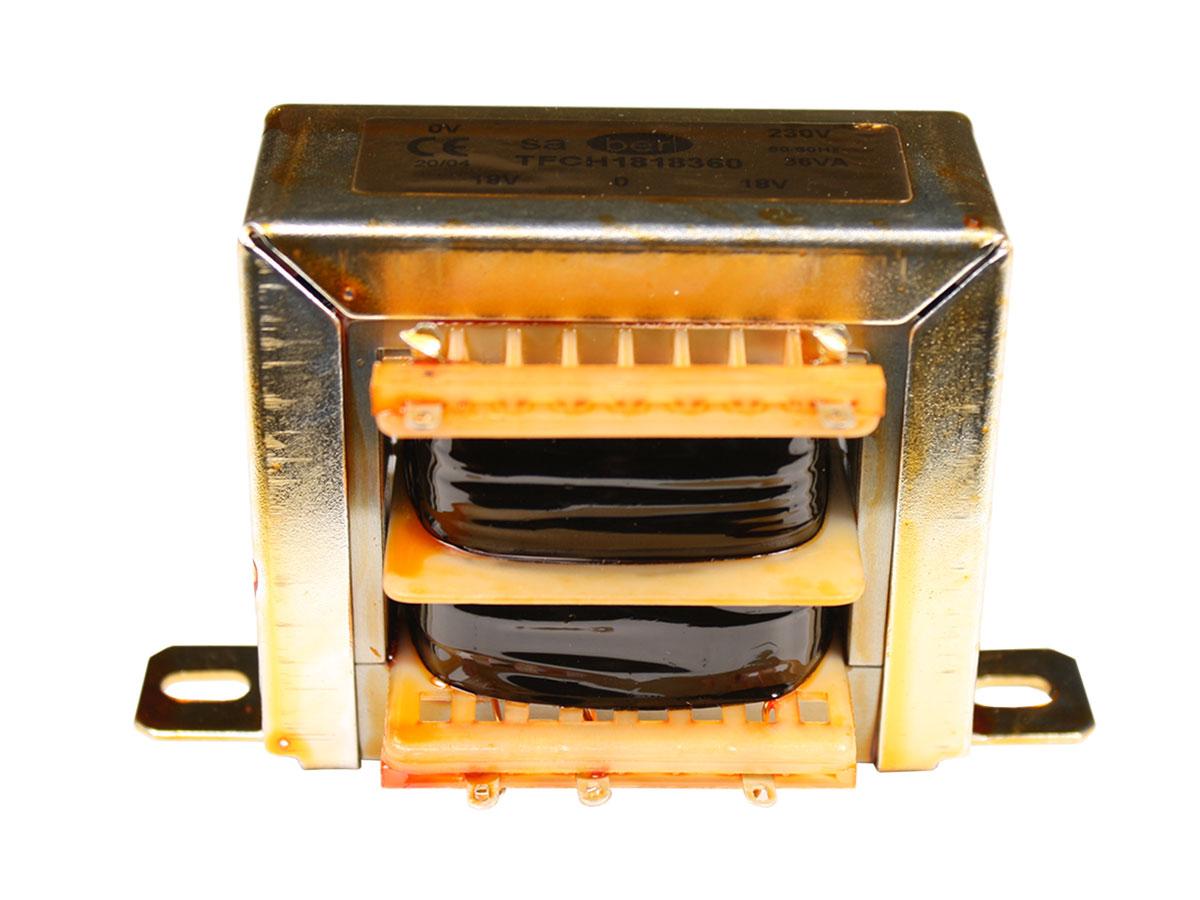 Transformador Chassi Aberto - 18 V + 18 V - 36 VA - 2 x 1,00 A