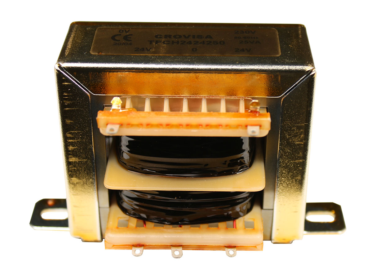 Transformateur Chassis Ouvert - 24 V + 24 V - 25 VA - 2 x 0,52 A