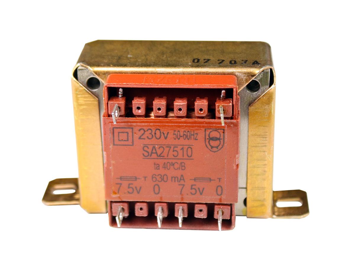 ORBI ELECTRICA 10VA - Transformateur Chassis Ouvert - 2 x 7,5 V - 10 VA - 2 x 660 mA - SA27510