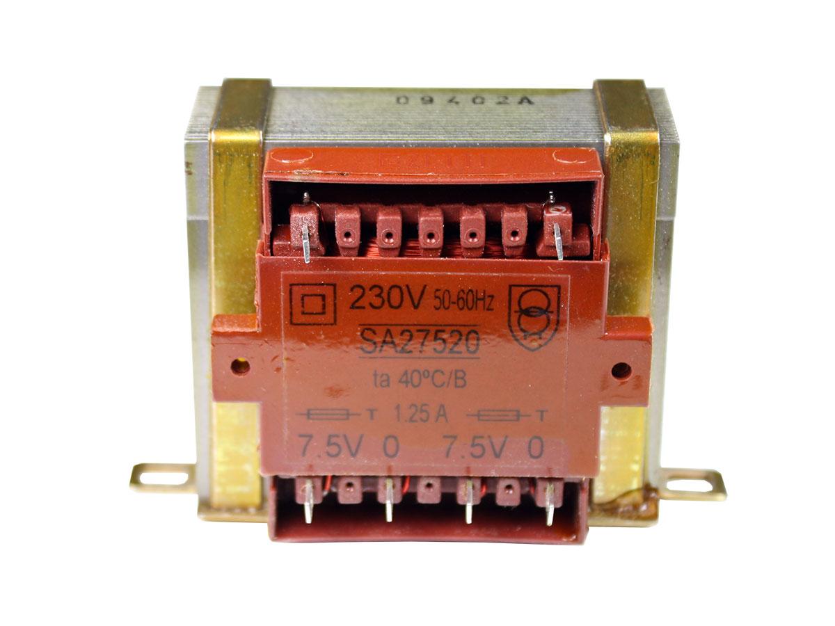 ORBI ELECTRICA 20VA - Transformateur Chassis Ouvert - 2 x 7,5 V - 20 VA - 2 x 1,3 A - SA27520