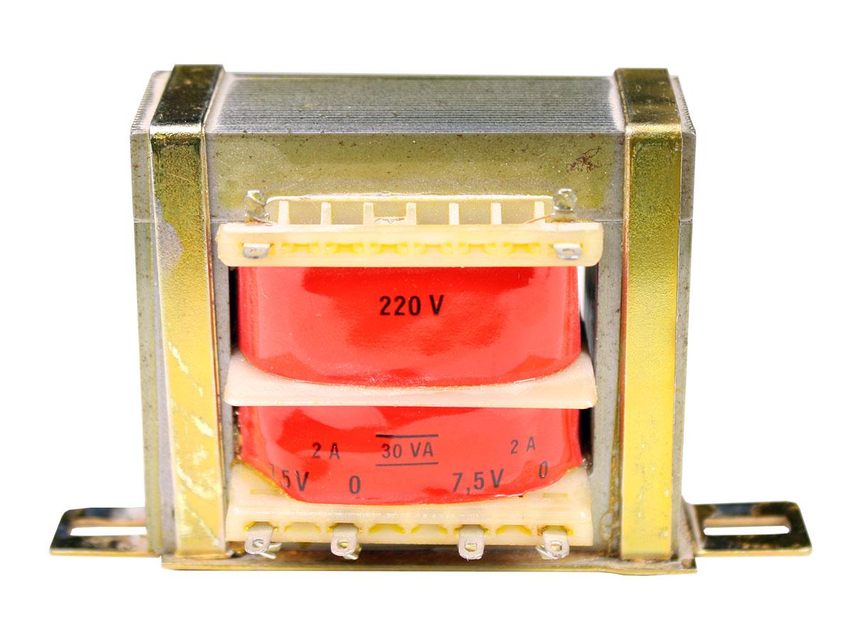 ORBI ELECTRICA 30VA - Transformador Chassi Aberto - 2 x 7,5 V - 30 VA - 2 x 2 A - SA27530