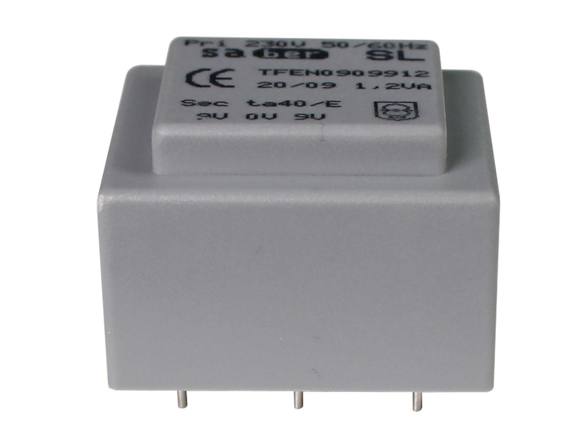 Transformador Encapsulado - 9 V + 9 V - 1,2 VA - 2 x 67 mA