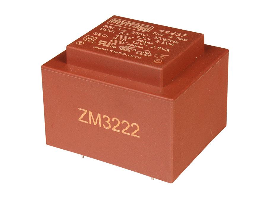 Encapsulated Transformer - 12 V + 12 V - 6 VA - 2 x 250 mA - E4215027