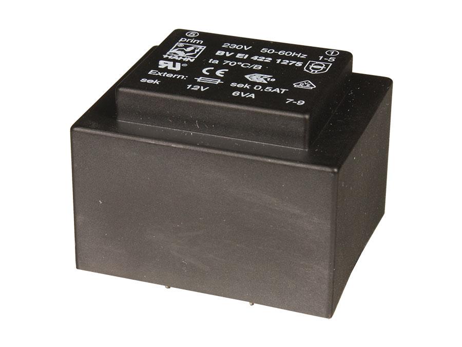 Transformador Encapsulado - 12 V - 6 VA - 500 mA - E4215006