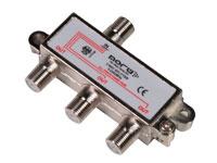 SPLITTER CONECTOR F, 1 ENTRADA Y 3 SALIDAS