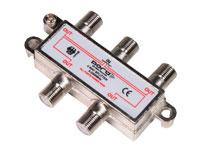 SPLITTER CONECTOR F, 1 ENTRADA Y 4 SALIDAS