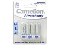 Camelion Alwaysready - 1.2 V - 800 mAh NiMH AAA Battery - 4 Unit Blister Pack