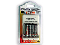 Velleman VLE4 - Carregador Rápido Universal para Baterías de NiMH AA-AAA-6F22-C-D