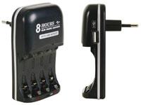 Velleman VLE2 - Carregador Rápido Universal para Baterías de NiMH AA-AAA-USB