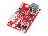 Sparkfun LiPo Charger/Booster - 5V/1A - Carregador e impulsionador de bateria de lítio 3,7 V - PRT-14411